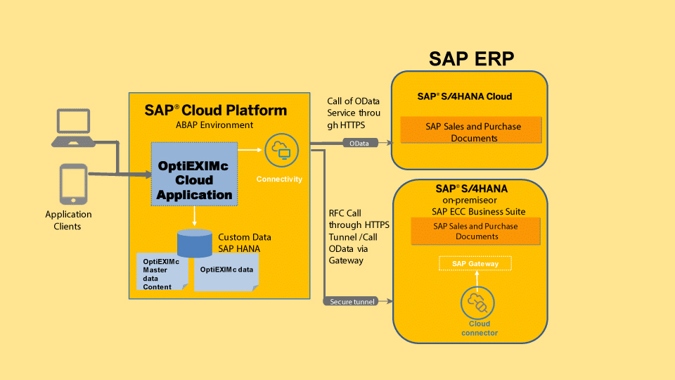 OptiEximC in SAP Cloud Platform